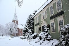 """""""15 Prettiest Winter Villages in New England"""" Love to see two MidCoast Maine destinations recognized! #travel #getaway"""