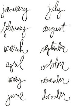 Heidi Swapp - Clear Stamps - Months, CLEARANCE
