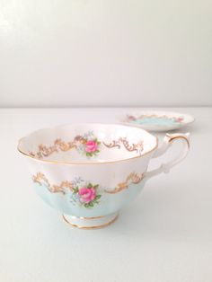 Something borrowed, something blue. A gem, truly feminine and romantic.    This breathtaking rare beauty is simply gorgeous! This teacup and