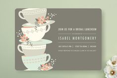 Time for Tea Bridal Shower Invitations by Angela Marzuki at minted.com