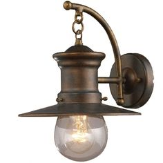 ELK 42006-1 Maritime Nautical Outdoor 12 inches high Wall Sconce - ELK-42006-1