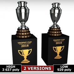 Copa America cup trophy low detail 3D Model .max .c4d .obj .3ds .fbx .lwo .stl @3DExport.com by kreatura