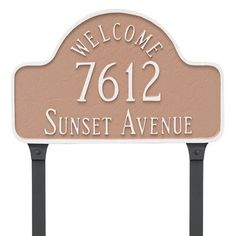 Montague Metal Products Welcome Arch Standard Address Plaque Finish: White/Silver