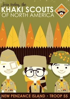 Wes Anderson moonrise kingdom inspired poster