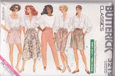 Vintage 1980s pattern for elastic waist shorts by beththebooklady, $5.99