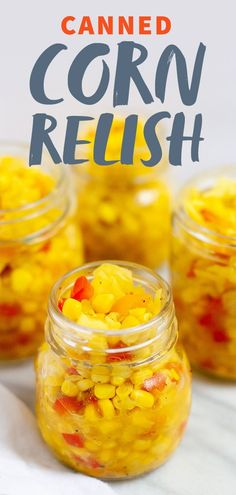 Preserve the taste of summer with this delicious and versatile corn relish! It's a perfect canning recipe for beginners. #corn #cornrecipes #canning #cornrelish #canningrecipes #wholefully
