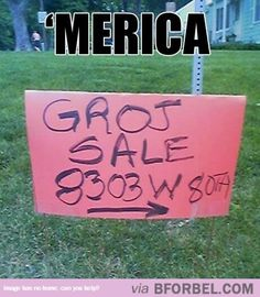 'Murica… pretty sure this was taken down the road from my house hahaha