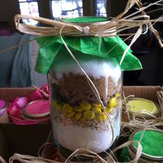Cookie Mix in a Mason Jar - wedding shower favors!