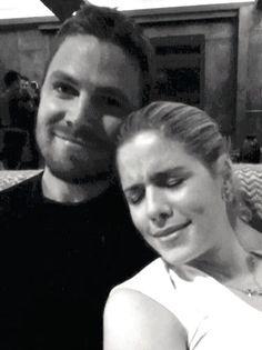 Arrow | Stephen Amell (Oliver/Arrow) and Emily Bett Rickards (Felicity) #Olicity