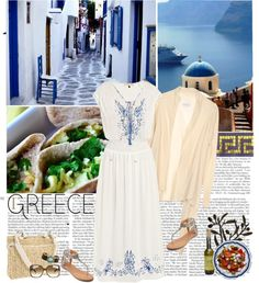"""""""day in Greece"""" by helena99 ❤ liked on Polyvore"""