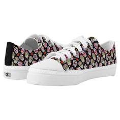 Colorful Tossed Sugar Skulls Low-Top Sneakers