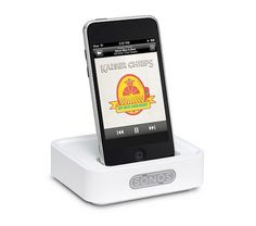 The Sonos WD100 Wireless Dock for iPhone/iPod accesses all of the music stored or playing on an iPhone or iPod and sends it wirelessly to Sonos Zone Players all throughout your home.