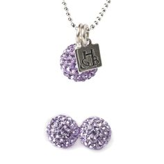 Violet Sparkle Earrings and Necklace Set – Hillberg & Berk