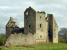 Torwood Castle is a castle ruin near the village of Torwood, in the Falkirk Council area of central Scotland.  It has been estimated as being built around 1566 for Sir Alexander Forrester.