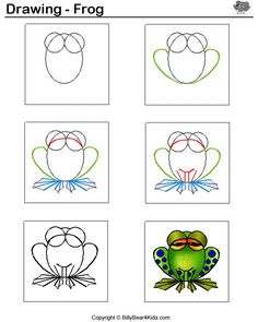 how to draw a frog - Google Search
