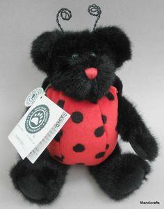 Boyds Bears Plush Lady B Bug Teddy 1990s