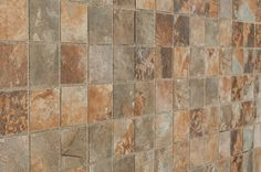 "Porcelain Mosaic - Slate Series - Multicolor / 2""x2"" / Glazed"