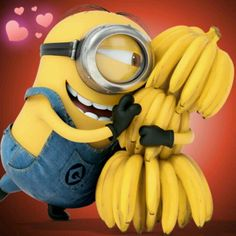 A minion and his bananas. Still a better love story than Twilight :P