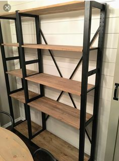 "Terrific Photo My Divine Home IKEA Ivar Hack Industrial Shelving Unit Furniture Avec Et Separat . Popular A ""concept"" works through the Sites and pages with this network world: Ikea Hacks. Ikea Ivar Shelves, Ikea Hack Storage, Ikea Shelving Unit, Closet Shelving, Closet Storage, Ikea Shelf Hack, Ikea Closet, Shelving Racks, Wire Shelving"