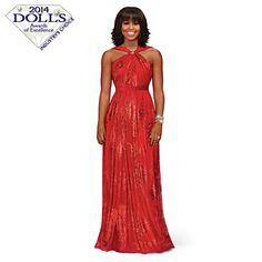 Michelle Obama Inaugural Ball Fashion Doll