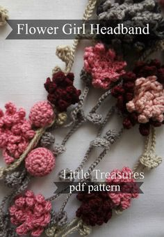 Flower Girl Headband Crochet Pattern  crocheted di sewella su Etsy