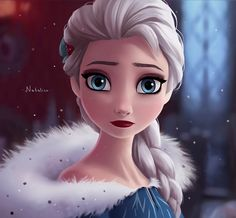 Queen Elsa by natalico on DeviantArt Hans Frozen, Frozen Elsa And Anna, Disney Frozen Elsa, Arte Disney, Disney Fan Art, Disney Magic, Disney And Dreamworks, Disney Pixar, Disney Characters