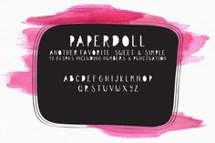 Paper Doll Handlettered Typeface by OnTheSpotStudio