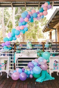 Whimsical Mermaid Birthday Party on Kara's Party Ideas   KarasPartyIdeas.com (11)