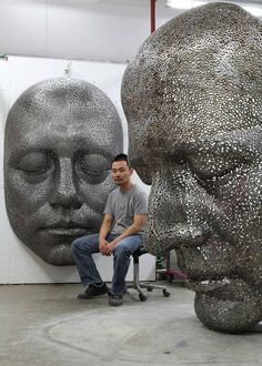 Sculpture, teach me to rest.  Young-Deok Seo 서영덕