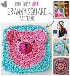 Our top 5 free granny square patterns
