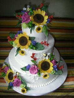 Beautiful summer Wedding Cake!