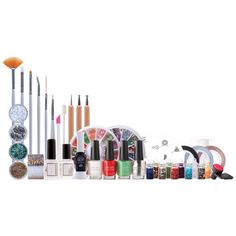 Rio Ultimate Nail Art Professional Artist Collection ($40) ❤ liked on Polyvore featuring beauty products, nail care, nail treatments, makeup, nail polish and nails