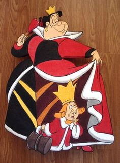 *QUEEN & KING of HEARTS ~ Alice in Wonderland, 1951
