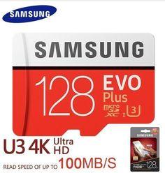 Samsung 32GB,64GB,128GB Class 10 UHS-I EVO Micro SDXC Grade U3 4K HD 100MB/S