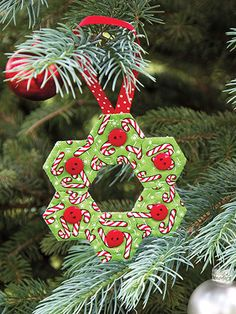 Quilted Christmas Traditions. No instructions, but an unusual decoration, perfect for a quilter.