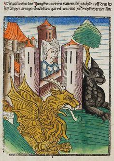Karlsruhe: Badische Landesbibliothek, St. Peter pap. 23 f. 91v. Der Seelen Wurzgarten. Comburg b. Schwäbisch Hall, [1467]