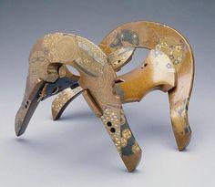 OMG DAT NASHIJI …    Lacquer Saddle  Japan, 17th century  The Dallas Museum of Art. #JapaneseDecorativeArt