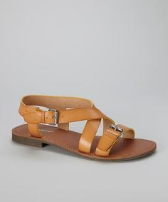 Take a look at this Natural Cable-17 Sandal by Shop the Look: Backyard Barbecue on @zulily today!