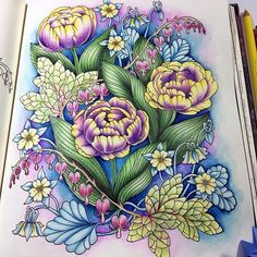 Very Cool Color Choices Adult Coloring PagesFLOWER PagesColoring TipsColoring
