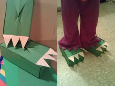Dinosaur Feet from Tissue Boxes!