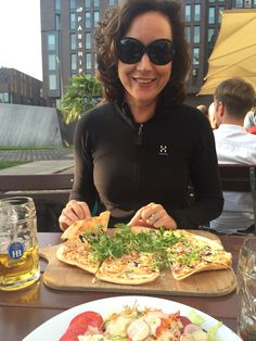 Flammkuchen is some kind of German pizza - by TravEllenineurope.com