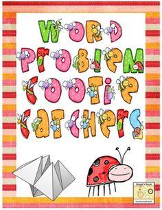 Cootie Catcher Word Problems