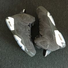 info for 464cf 6fd79 2018 Genuine Mens AJ VI Air Jordan 6 Retro Custom Cool Grey