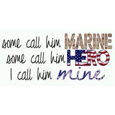 Love our USMC but I love my husband Military Girlfriend Quotes, Marine Boyfriend, Marines Girlfriend, Boyfriend Quotes, Usmc Love, Marine Love, Military Love, Military Spouse, Military Signs