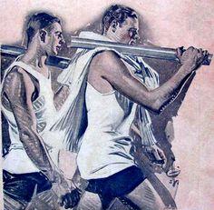 Rowers, 1923 Regatta Cover, J. C. Leyendecker (1874-1951) by The Happy Rower, via Flickr