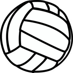 free printable volleyball clip art shape collage shapes rh pinterest com volleyball net clipart free volleyball clipart free printable