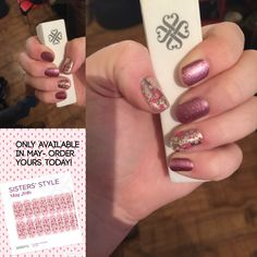 #floralfusionJN #pixieJN @djjamberrynails don't miss out on this months beautiful nails!