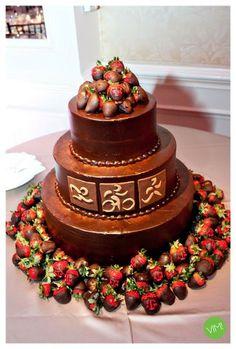 Amazing Chocolate Dipped Strawberry Wedding Cake