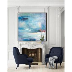Hand painted oversized contemporary painting on canvas. – CZ Art Design