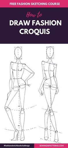 Fashion sketch like a pro with 30 days FREE fahion design course How to Draw Fashion Sketches step by step # Fashion drawing Fashion Sketchboook Challenge New - sewingnpatterns